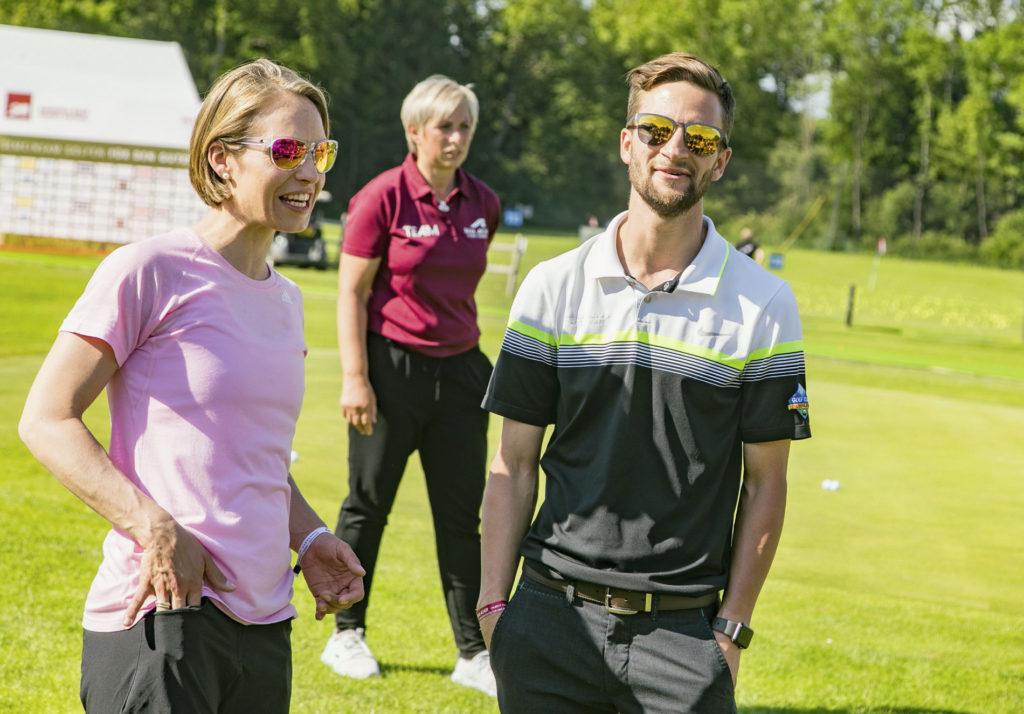 Magdalena Neuner, Karin Platajs, Markus Eisenbichler