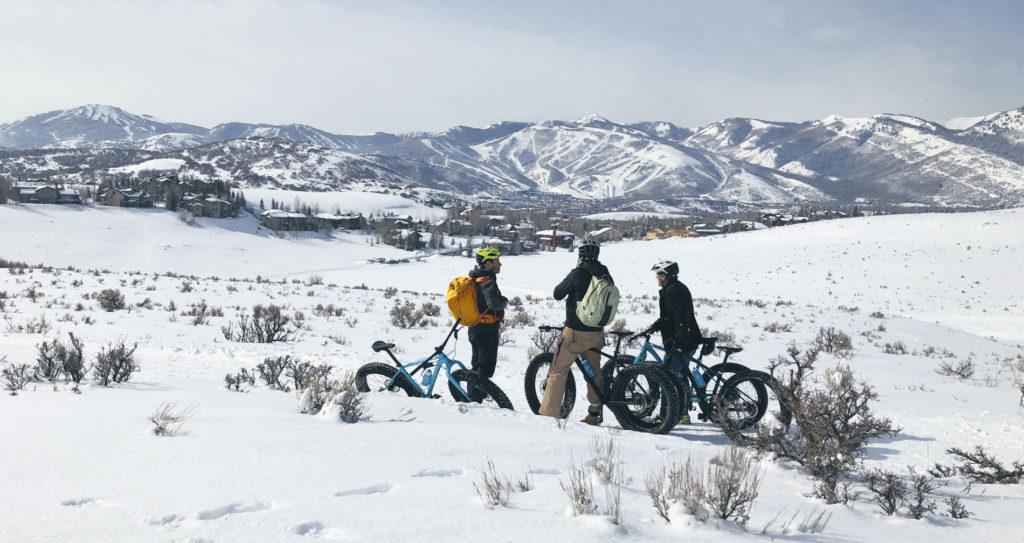 Es muss nicht immer Skifahren sein. Mit Fatbikes lässt sich die Gegend von Park City im Winter erkunden.